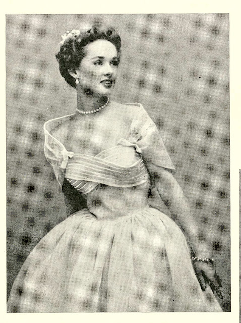 1950s summer bride magazine wedding dress shelf bust