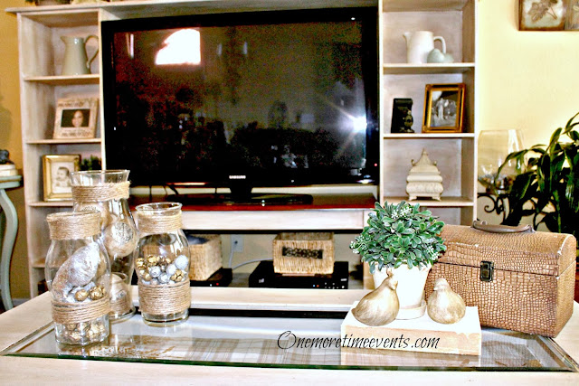 Winter Vignettes in Living Room