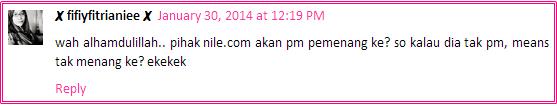 Hadiah bernilai RM200 sebab..