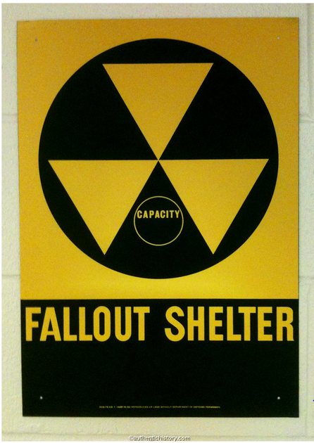 THE FALLOUT SHELTER STARTS HERE SIGN IN WITH THE CIVIL DEFENSE OFFICER UPON ARRIVAL