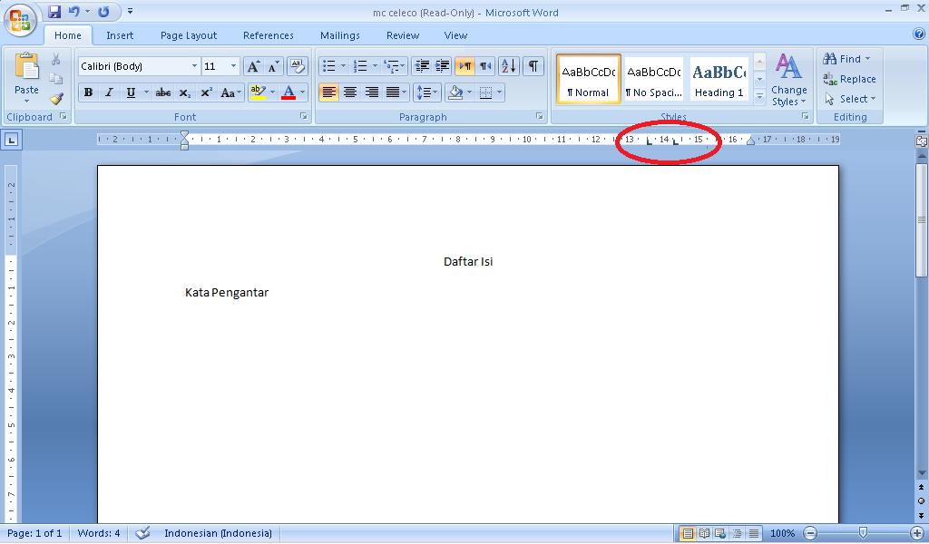 Membuat daftar isi otomatis di Ms Word 2007 | SANTRI AKTIF