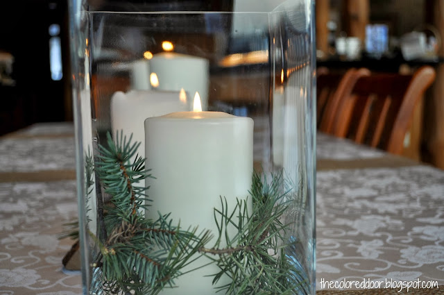 Winter Centerpiece - the colored door