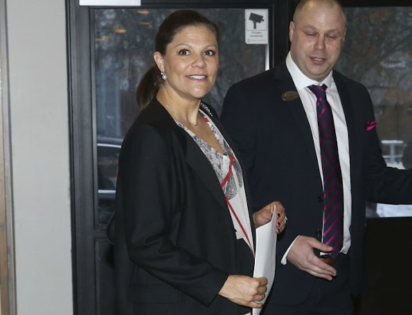 Crown Princess Victoria of Sweden attended a conference organized by Emerich Foundation in Viksjö School of Jarfalla municipality near Stockholm together with Emerich Roth who is a Swedish author and academician