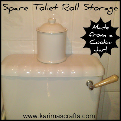 toilet roll storage cookie jar