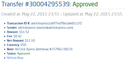 adclickxpress payment proof