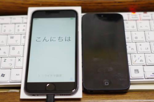 iPhone6とiPhone5