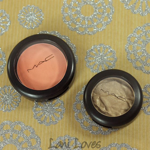 MAC Monday: Faerie Whispers - Spellbinder Blush and Fairy Land Foiled Shadow Swatches & Review