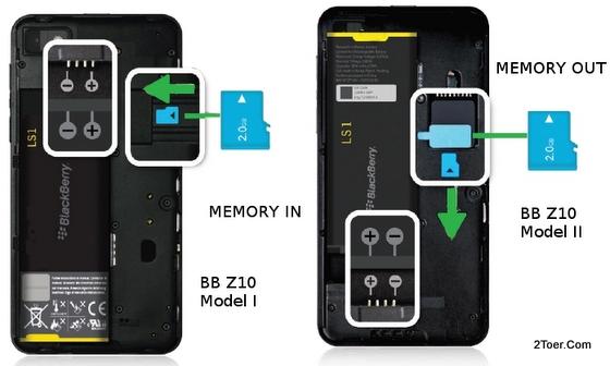 Insert Memory Card Remove microSD Media Install Slot of BlackBerry Z10