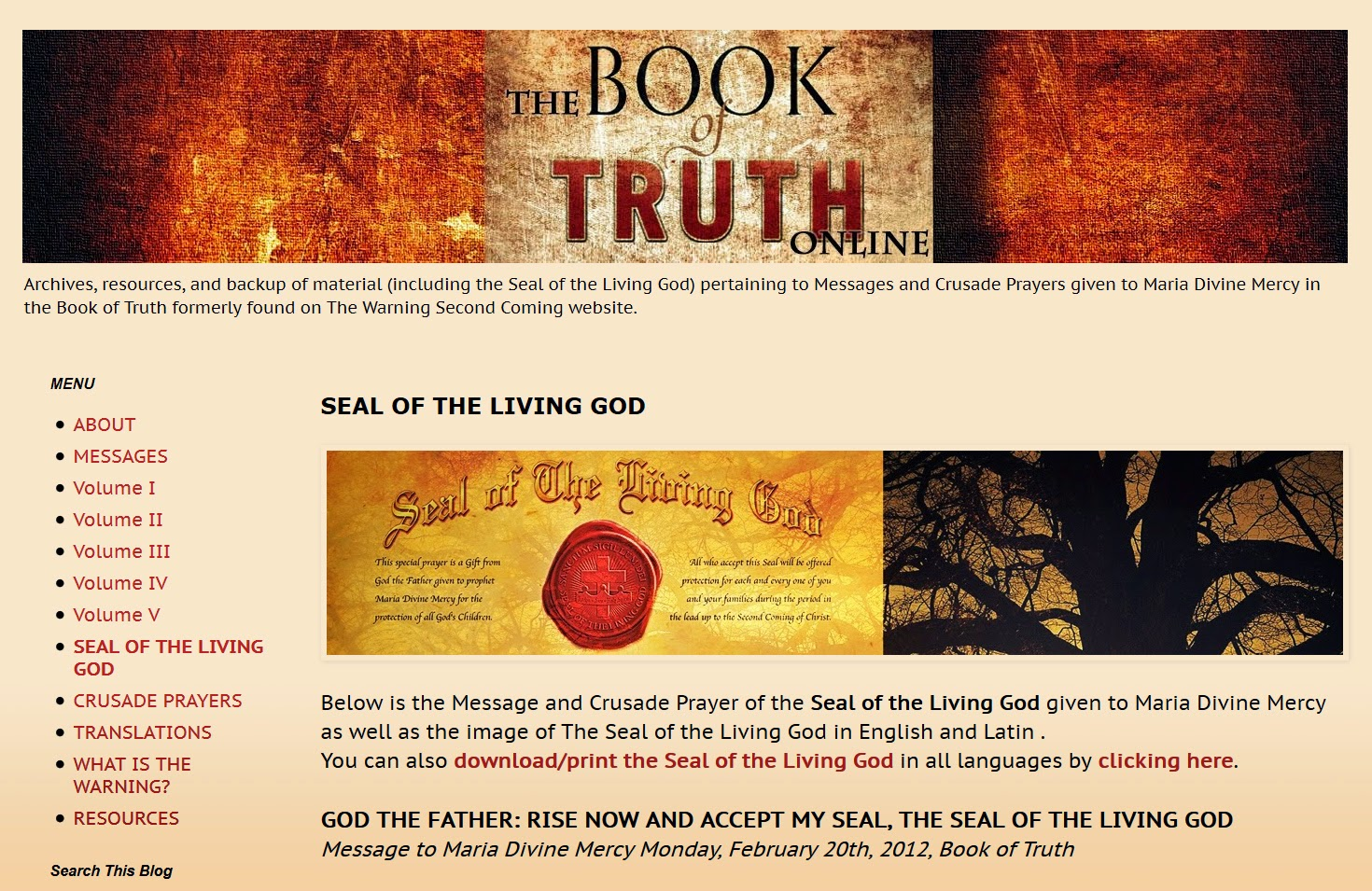 The Book Of Truth Online