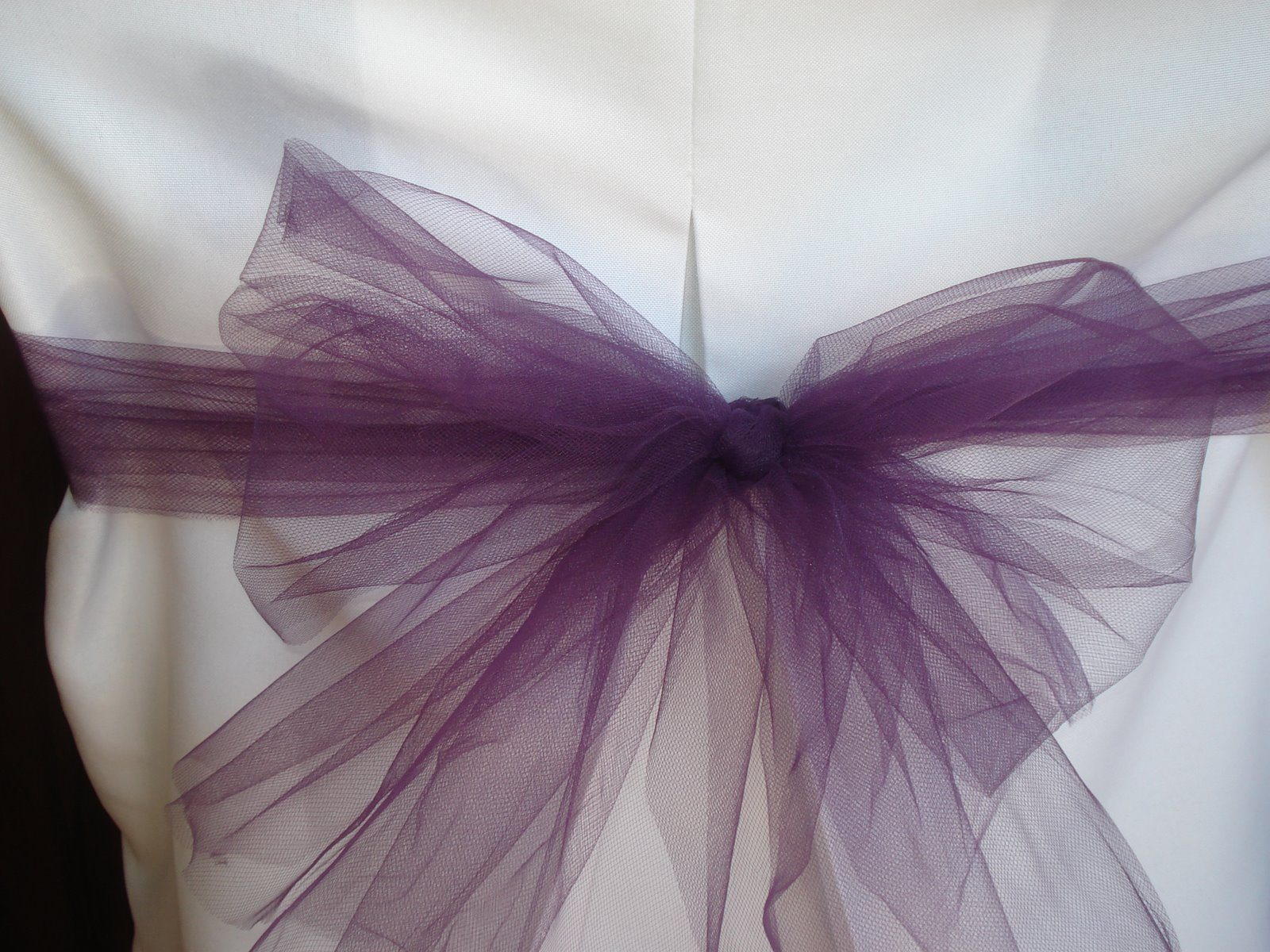 Lori Louise Design Tulle Bow For Chair Cover