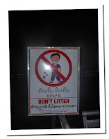 dont litter in laos