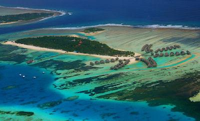 Vista aérea de las Islas Maldivas - Playas de lujo - Exóticas Beaches