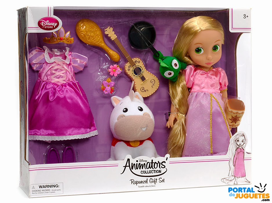 set coleccion rapunzel disney animators caja