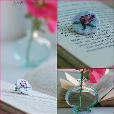 брошка вышивка, брошь с розой, вышивка роза, брошь своими руками, роза бутон вышивка, вышивка мниатюра