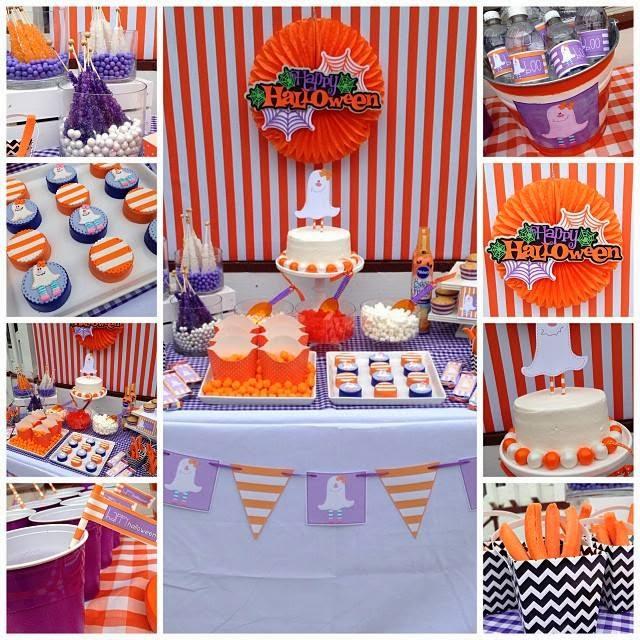 Decoracion Halloween Infantil ~ Halloween infantil decoraci?n con rayas naranjas y blancas  Ideas