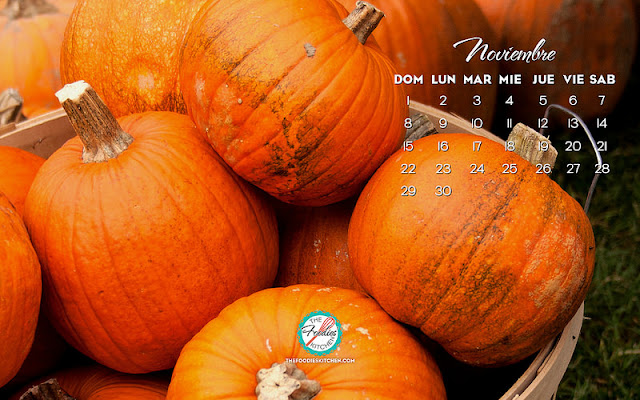 Wallpaper Calendario Noviembre 2015 - The Foodies' Kitchen