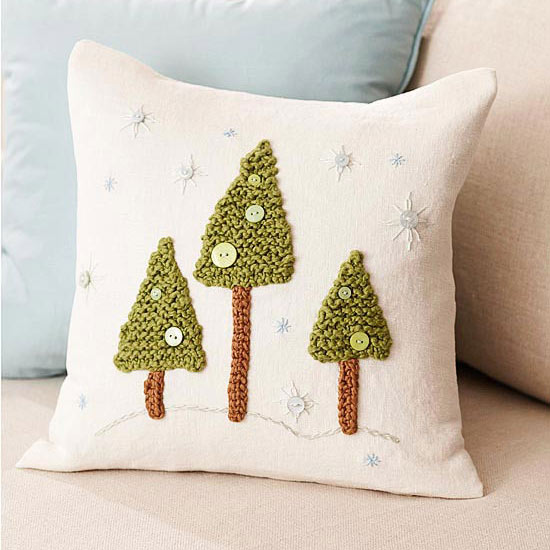 Cut craft create 5 christmas crafts using fabric most - Better homes and gardens pillows ...