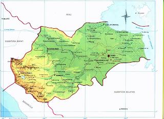 Peta Propinsi Jambi Pulau Sumatera