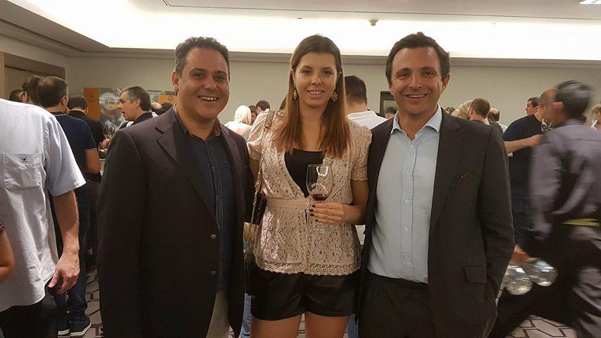 Momento com o Enólogo Carlos Giacometti e com Jorge Rosas  Diretor da Quinta Touriga  Chã