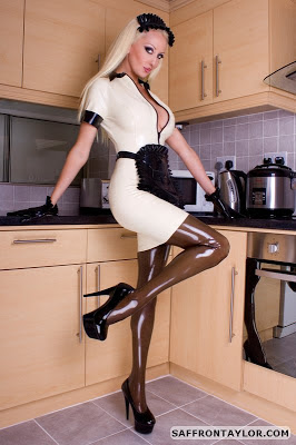 Saffron Taylor Latex French Maid