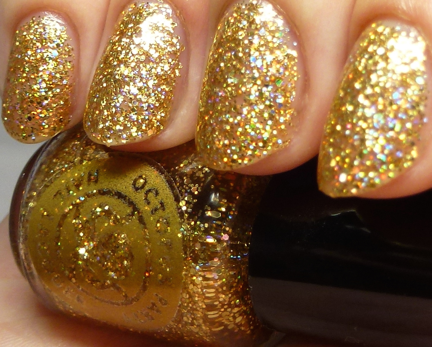 Gold Glitter Nail Polish Online - Absolute cycle