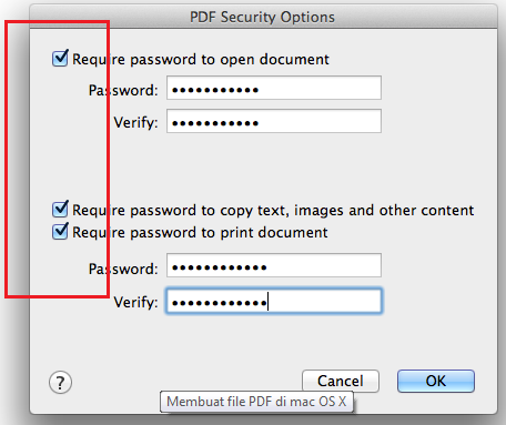 Password PDF File On Mac
