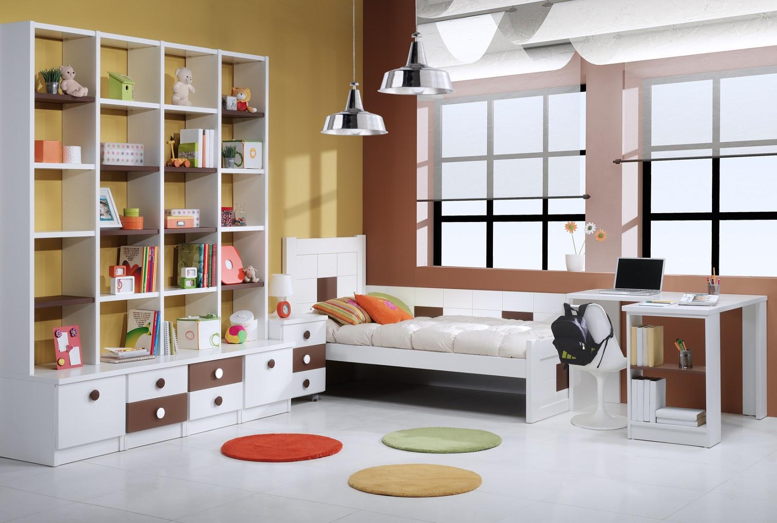 Dormitorios juveniles con cabecero camas individuales for Habitaciones juveniles 3 camas
