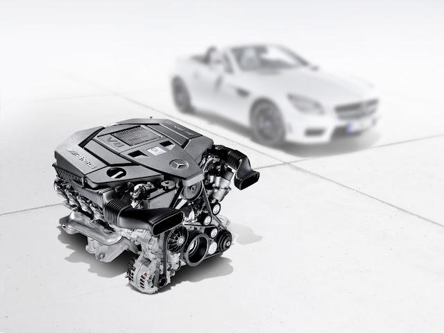 2012/2013 New Mercedes-benz AMG Engine M 152 5.5-liter litre V8 naturally aspirated SLK 55 R 172