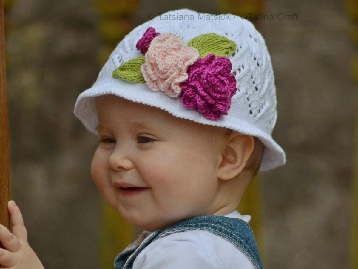 Free Crochet Pattern For A Panama Hat : Rose Scent Panama Hat Knitting Pattern ViTalina Craft