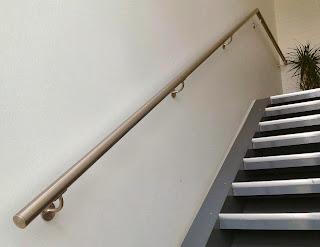 Vægmonteret gelænder håndliste