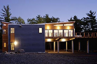 Factory-built modular house, New York