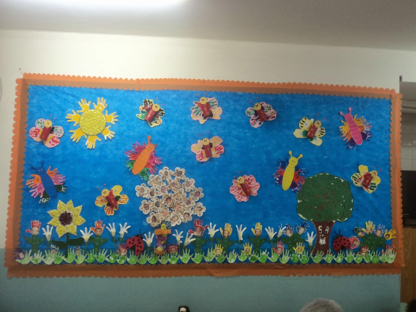 A arte de educar e encantar painel de primavera for Mural de natal 4 ano