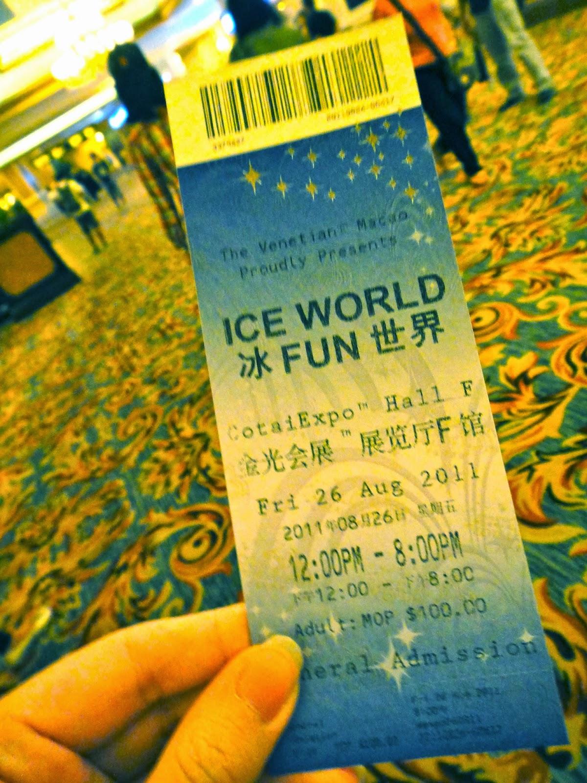 Ice World Exhibition The Venetian Macao Ticket