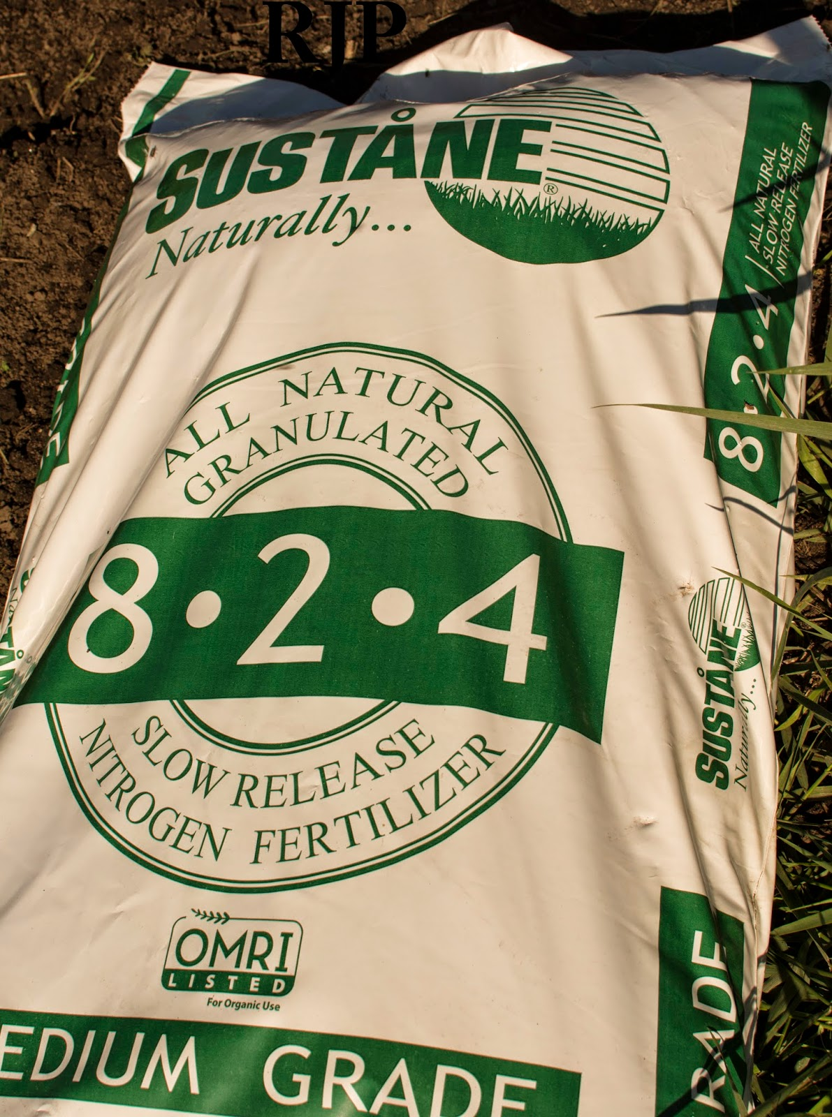 Sustane Fertilizer we use on all of the plants we pot up. Photo Cred: Reed