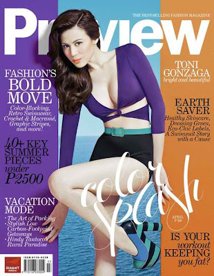 Toni Gonzaga Preview Magazine April 2011 issue