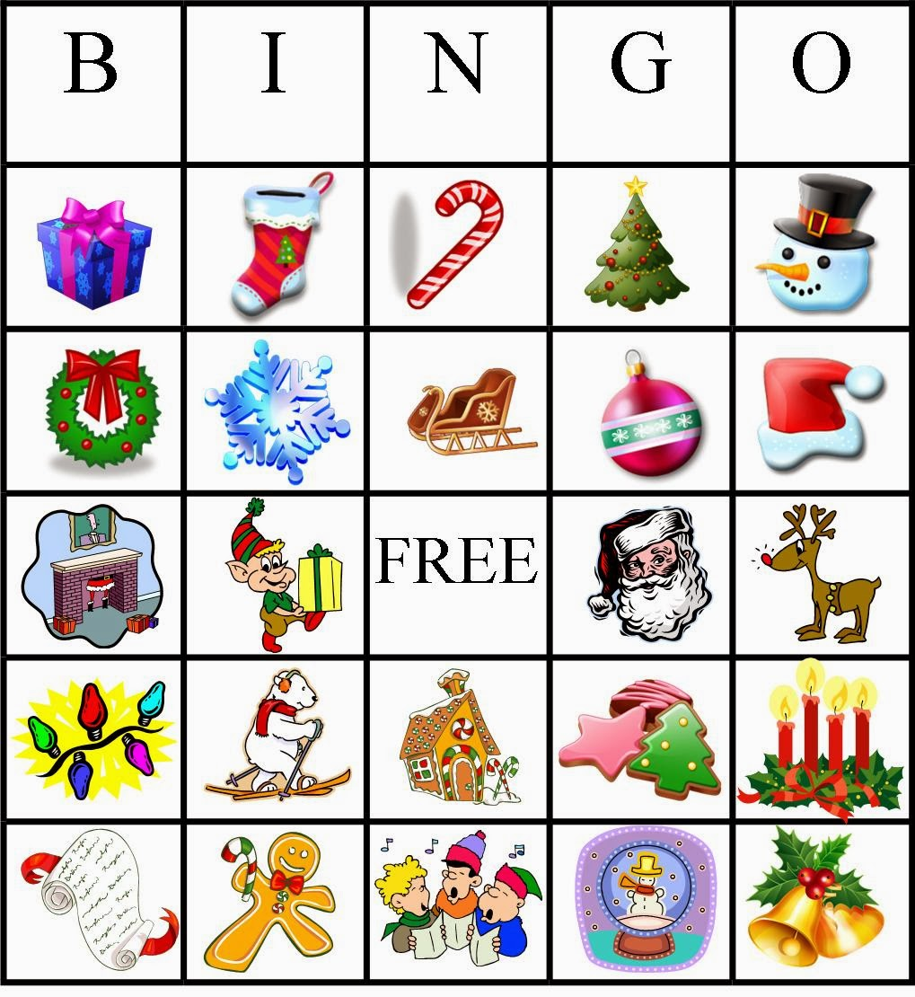 Adaptable image with christmas bingo card printable