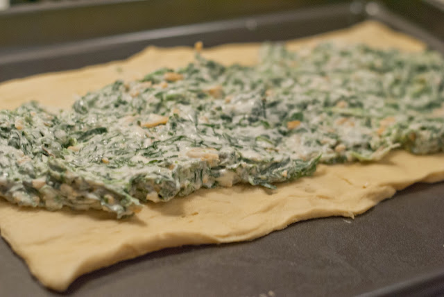 Crescent Roll Spinach Ring Pampered Chef