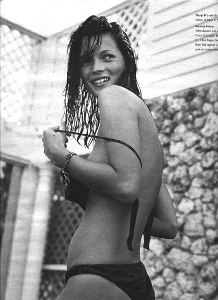 Down Home W April 1999, Kate Moss photographed by Bruce Weber