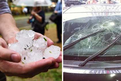 Fenomena Hujan Es Sebesar Bola Golf di Australia