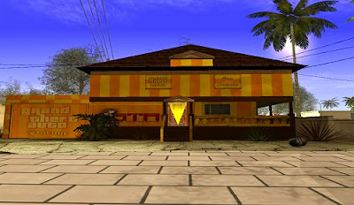 Mod Rumah CJ Berdinding Kuning Oren