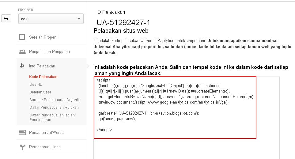 Cara Daftar Google Analytic Universal Terbaru 2014