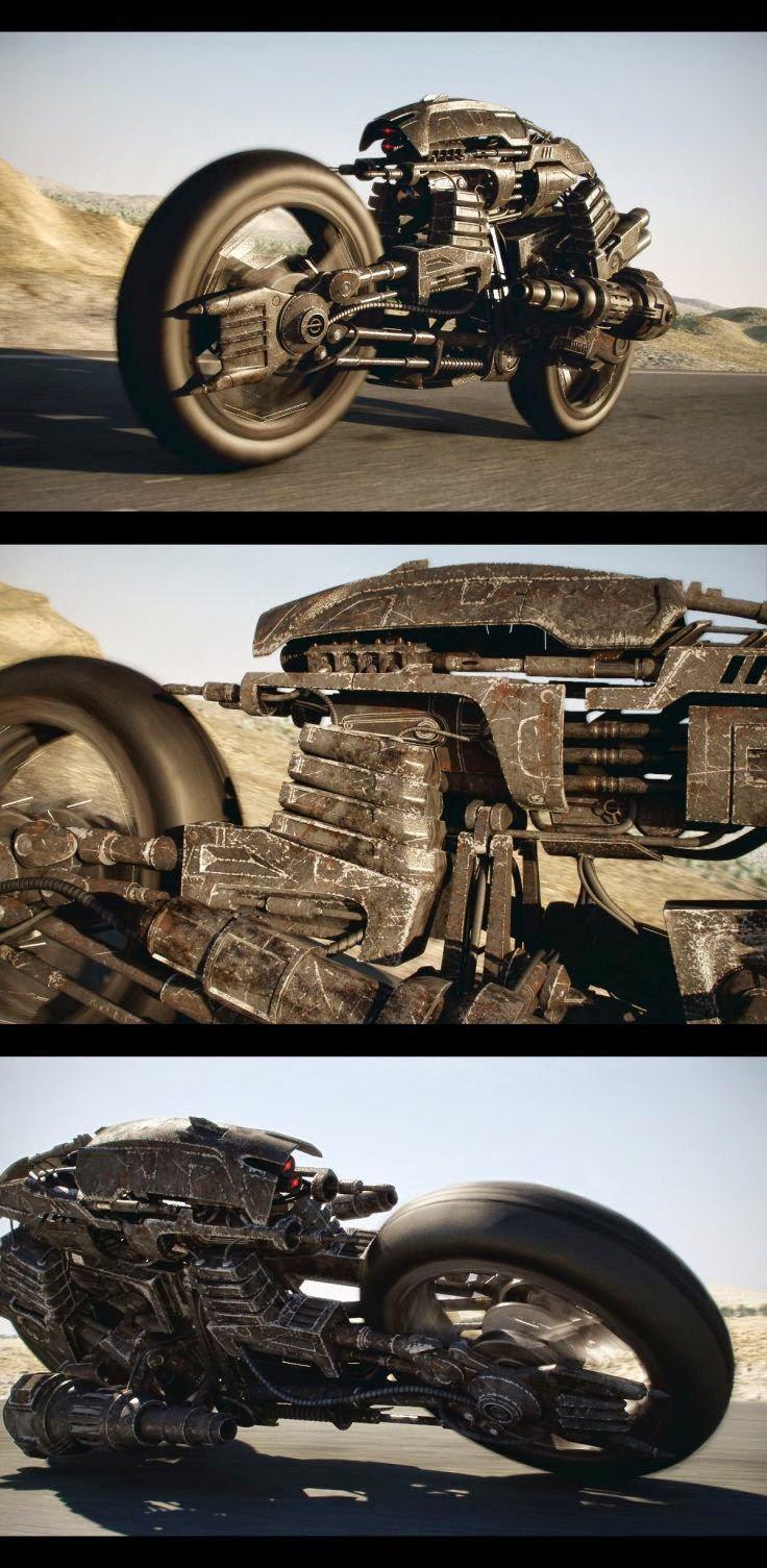 3 Gambar Motorsikal Perang Masa Depan