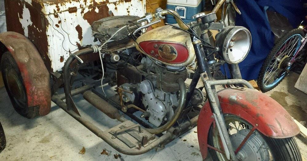 RoyalEnfields.com: Barn find: Indian three-wheeler powered ...