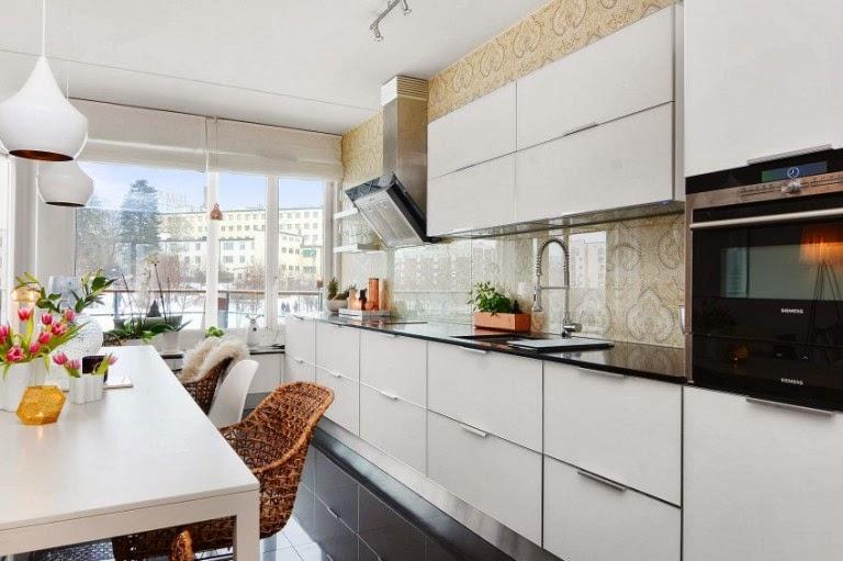 Hogares frescos dise o escandinavo brillante apartamento de dos dormitorios en estocolmo - Apartamentos en estocolmo ...