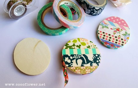 DIY BROOCH WASHI TAPE - Choose the wood form - www.cocoflower.net