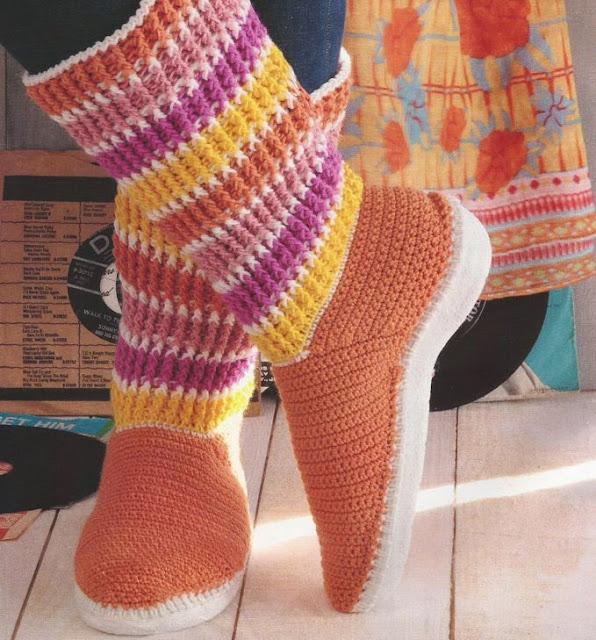Botas Juveniles a Crochet