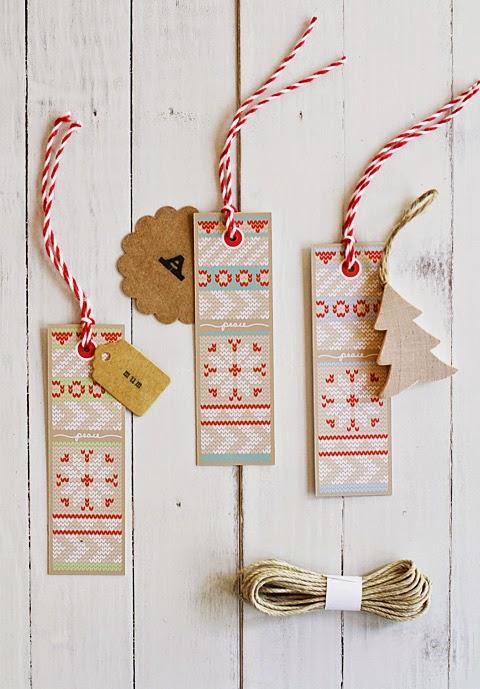 bisutería creativa etiquetas navideñas creativas