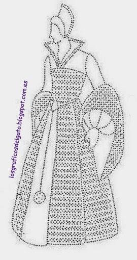 Preciosos patrones de damas para bolillos