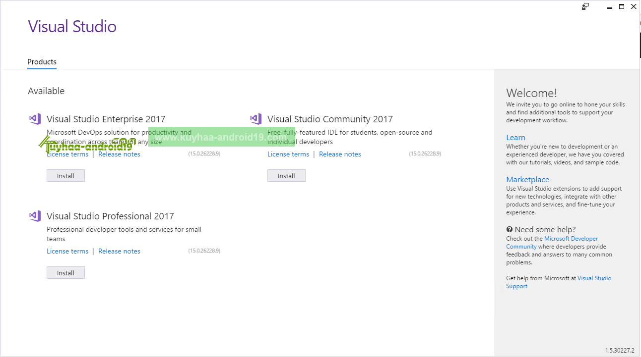 Visual Studio 2017 kuyhaa