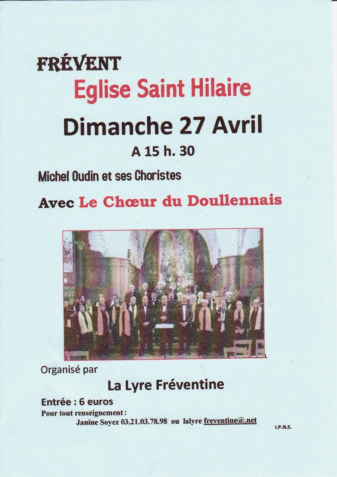 Concert à Frévent le 27 Avril 2014